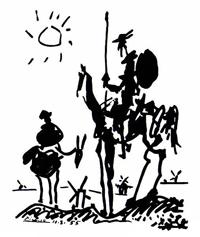 Don Quixote von Pablo Picasso - Quelle Wikipedia